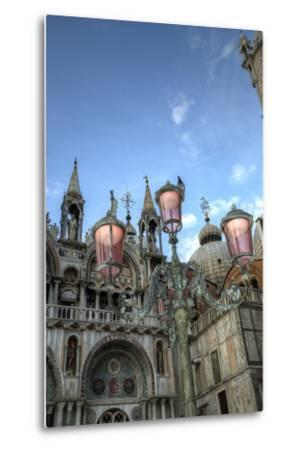 St. Marks and Lamp Post, Venice, Italy-Darrell Gulin-Metal Print
