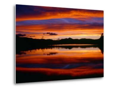 USA, Colorado, Sunset Ignites the Sky over Echo Lake, Arapaho National Forest-John Barger-Metal Print