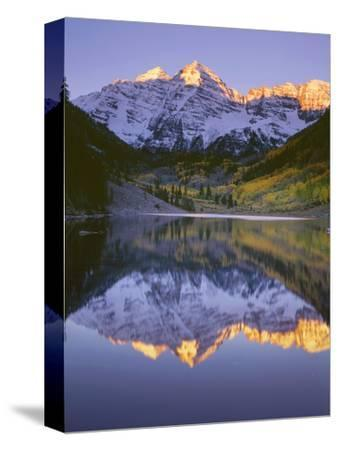 USA, Colorado, White River National Forest, Maroon Bells Snowmass Wilderness-John Barger-Stretched Canvas Print