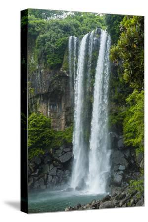Jeongbang Pompom Waterfall, Jejudo Island, South Korea-Michael Runkel-Stretched Canvas Print