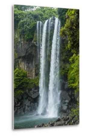Jeongbang Pompom Waterfall, Jejudo Island, South Korea-Michael Runkel-Metal Print