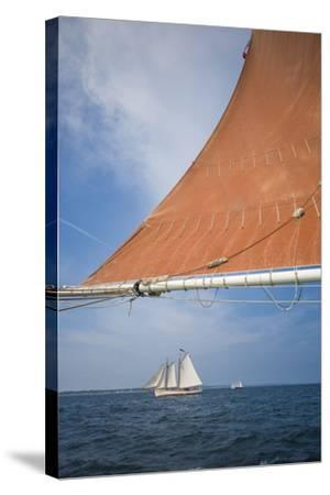 Massachusetts, Cape Ann, Annual Schooner Festival, Schooner Rigging-Walter Bibikow-Stretched Canvas Print