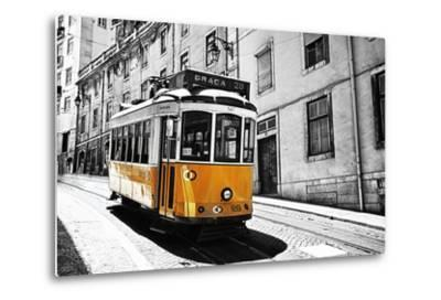 Portugal, Lisbon. Famous Old Lisbon Cable Car-Terry Eggers-Metal Print