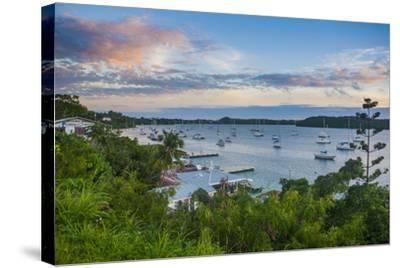 The Bay of Neiafu after Sunset, Vava'U Islands, Tonga, South Pacific-Michael Runkel-Stretched Canvas Print
