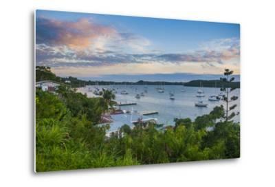 The Bay of Neiafu after Sunset, Vava'U Islands, Tonga, South Pacific-Michael Runkel-Metal Print