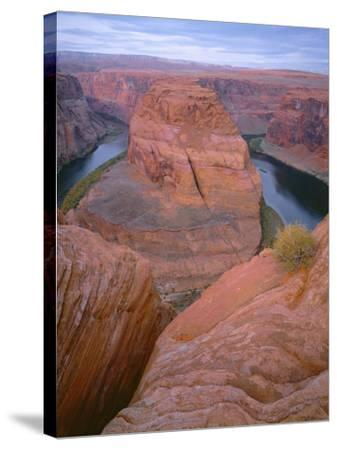 USA, Arizona, Glen Canyon National Recreation Area, Horseshoe Bend on the Colorado River-John Barger-Stretched Canvas Print