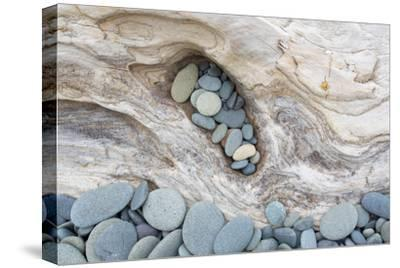 Washington, Olympic National Park. Beach Wood and Pebbles-Jaynes Gallery-Stretched Canvas Print