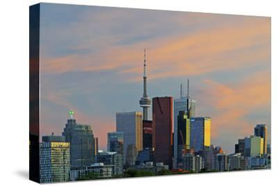 Toronto Skyline at Dusk-Brad Smith-Stretched Canvas Print