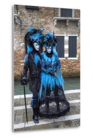 Venice at Carnival Time, Italy-Darrell Gulin-Metal Print
