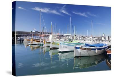 Fishing Boats at the Harbour, France-Markus Lange-Stretched Canvas Print