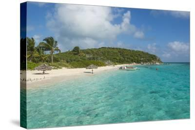 Turquoise Waters and a White Sand Beach, Exumas, Bahamas, West Indies, Caribbean, Central America-Michael Runkel-Stretched Canvas Print