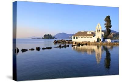 Vlacherna Monastery, Kanoni, Corfu, the Ionian Islands, Greek Islands, Greece, Europe-Neil Farrin-Stretched Canvas Print