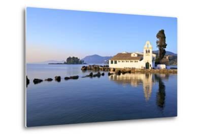 Vlacherna Monastery, Kanoni, Corfu, the Ionian Islands, Greek Islands, Greece, Europe-Neil Farrin-Metal Print