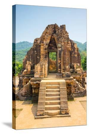 My Son Ruins, Cham Temple Site, Duy Xuyen District, Quang Nam Province, Vietnam-Jason Langley-Stretched Canvas Print