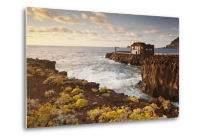 Hotel Punta Grande at Sunset, Las Puntas, El Golfo, Lava Coast, Canary Islands, Spain-Markus Lange-Metal Print