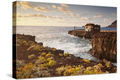 Hotel Punta Grande at Sunset, Las Puntas, El Golfo, Lava Coast, Canary Islands, Spain-Markus Lange-Stretched Canvas Print