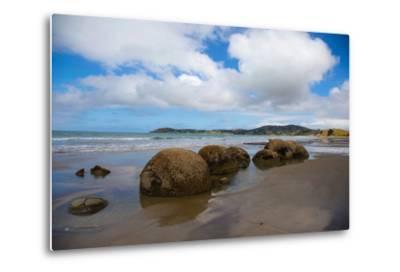 Moeraki Boulders, Koekohe Beach, Otago, South Island, New Zealand, Pacific-Suzan Moore-Metal Print