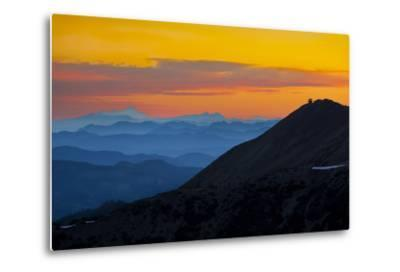 Washington, Sunrise, Mt. Fremont Lookout and the Cascade Range from Second Burroughs-Gary Luhm-Metal Print