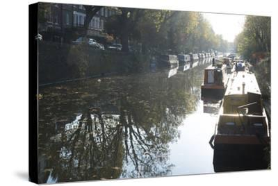 Canal Boats on the Regent's Canal, Little Venice, London, England, United Kingdom, Europe-Ethel Davies-Stretched Canvas Print