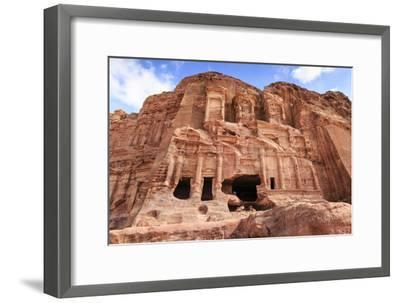Corinthian Tomb, Royal Tombs, Petra, UNESCO World Heritage Site, Jordan, Middle East-Eleanor Scriven-Framed Premium Photographic Print