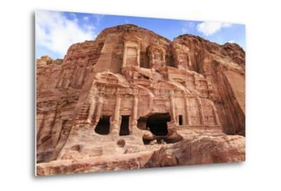 Corinthian Tomb, Royal Tombs, Petra, UNESCO World Heritage Site, Jordan, Middle East-Eleanor Scriven-Metal Print