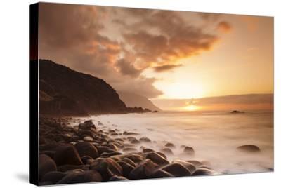 Coast Near Los Llanillos at Sunset, El Golfo Valley, El Hierro, Canary Islands, Spain-Markus Lange-Stretched Canvas Print