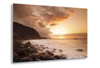 Coast Near Los Llanillos at Sunset, El Golfo Valley, El Hierro, Canary Islands, Spain-Markus Lange-Metal Print