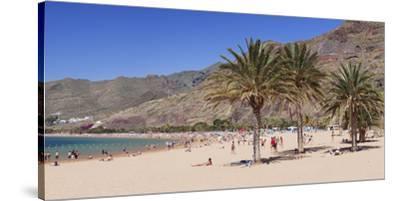 Playa De Las Teresitas Beach, San Andres, Tenerife, Canary Islands, Spain, Europe-Markus Lange-Stretched Canvas Print