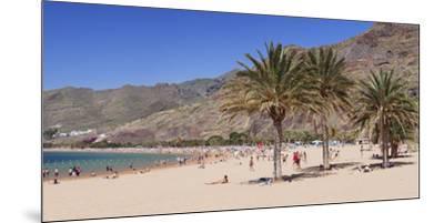 Playa De Las Teresitas Beach, San Andres, Tenerife, Canary Islands, Spain, Europe-Markus Lange-Mounted Premium Photographic Print