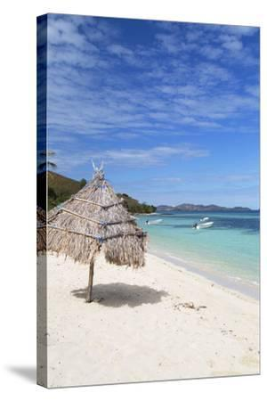 Beach on Mana Island, Mamanuca Islands, Fiji, South Pacific, Pacific-Ian Trower-Stretched Canvas Print