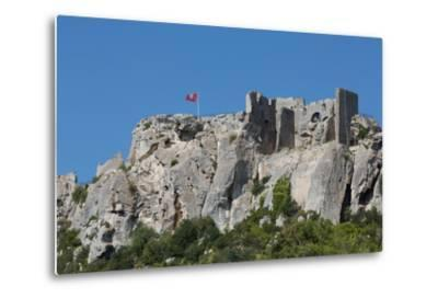 Castle Ruin in the Rocks of the Hill Village of Les Baux-De-Provence, Provence, France, Europe-Martin Child-Metal Print