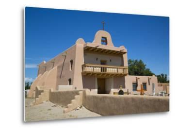 Pueblo Mission, San Ildefonso Pueblo, Pueblo Dates to 1300 Ad, New Mexico, United States of America-Richard Maschmeyer-Metal Print