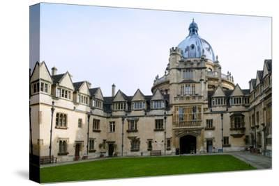 Brasenose College Front Quad, Oxfordshire-Alex Robinson-Stretched Canvas Print