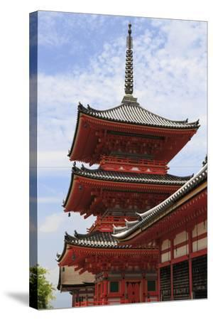 Vermillion Three Storey Pagoda, Kyoto-Eleanor Scriven-Stretched Canvas Print
