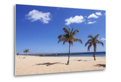 Playa De Las Teresitas Beach, San Andres, Tenerife, Canary Islands, Spain, Europe-Markus Lange-Metal Print
