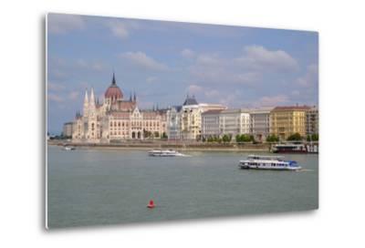 The Hungarian Parliament Building, Budapest, Hungary, Europe-Carlo Morucchio-Metal Print