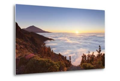 Pico Del Teide at Sunset, National Park Teide, Tenerife, Canary Islands, Spain-Markus Lange-Metal Print