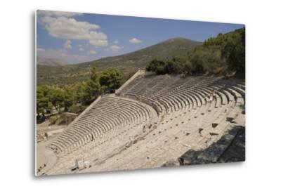 Ancient Theatre of Epidaurus (Epidavros), Argolis, Peloponnese, Greece, Europe-Nick Upton-Metal Print