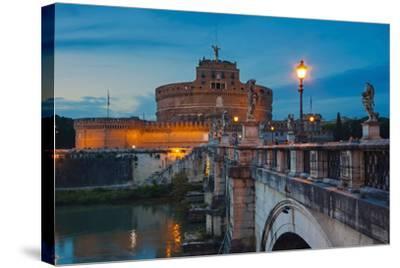 Mausoleum of Hadrian (Castel Sant'Angelo), Ponte Sant'Angelo, Tiber River, Rome, Lazio, Italy-Nico Tondini-Stretched Canvas Print