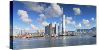 International Commerce Centre (Icc) and Hong Kong Island Skyline, Hong Kong, China, Asia-Ian Trower-Stretched Canvas Print