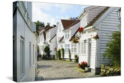 Old Stavanger (Gamle Stavanger) - About 250 Buildings Dating from Early 18th Century, Norway-Amanda Hall-Stretched Canvas Print