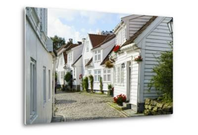 Old Stavanger (Gamle Stavanger) - About 250 Buildings Dating from Early 18th Century, Norway-Amanda Hall-Metal Print