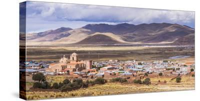 Pucara Seen from Pukara Inca Ruins, Puno Region, Peru, South America-Matthew Williams-Ellis-Stretched Canvas Print