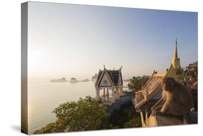 Wat Thammikaram Worawihan Temple, Khao Chong Krajok, Prachuap Kiri Khan, Thailand, Southeast Asia-Christian Kober-Stretched Canvas Print