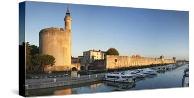Tour De Constance Tower and City Wall at Sunset, Languedoc-Roussillon-Markus Lange-Stretched Canvas Print
