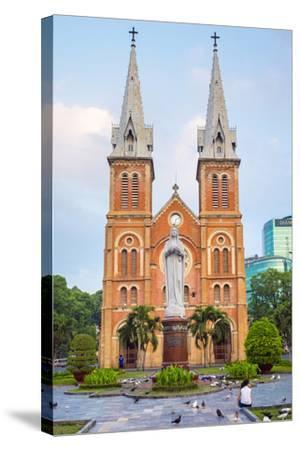 Saigon Notre-Dame Basilica Cathedral, Ho Chi Minh City (Saigon), Vietnam, Indochina, Southeast Asia-Jason Langley-Stretched Canvas Print