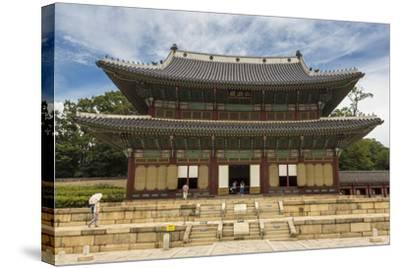 Injeongjeon Main Palace Building, Changdeokgung Palace, Seoul, South Korea, Asia-Eleanor Scriven-Stretched Canvas Print