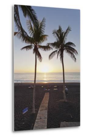 Beach of Puerto Naos at Sunset, La Palma, Canary Islands, Spain, Atlantic, Europe-Markus Lange-Metal Print