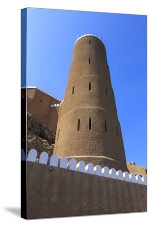 Tower of Al-Mirani Fort, Old Muscat, Oman, Middle East-Eleanor Scriven-Stretched Canvas Print