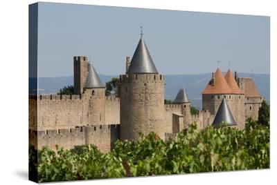 The Medieval Walled Town of Carcassonne, Languedoc-Roussillon, France, Europe-Martin Child-Stretched Canvas Print